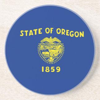 オレゴンの州の旗 サンドストーンコースター