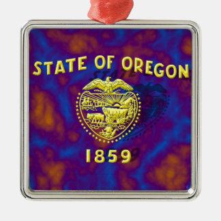 オレゴンの州の旗 メタルオーナメント
