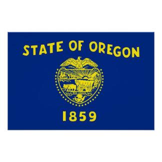 オレゴンの旗が付いている愛国心が強いポスター ポスター