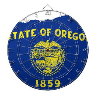 オレゴンの旗の地図 ダーツボード