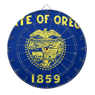 オレゴンの旗 ダーツボード