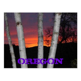 オレゴンの日没 ポストカード
