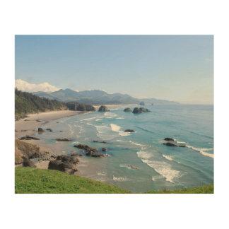 オレゴンの沿岸視点 ウッドウォールアート