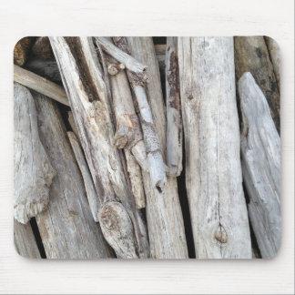 オレゴンの海岸からの素朴なBeachy流木の積み重ね マウスパッド