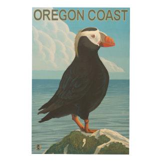 オレゴンの海岸のエトピリカ ウッドウォールアート