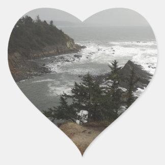 オレゴンの海岸の美しい部分 ハートシール