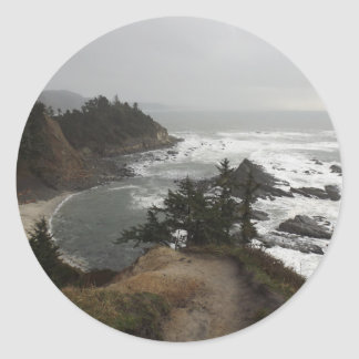 オレゴンの海岸の美しい部分 ラウンドシール