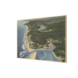 オレゴンの海岸- Siletz湾、タフト、Nelscott キャンバスプリント