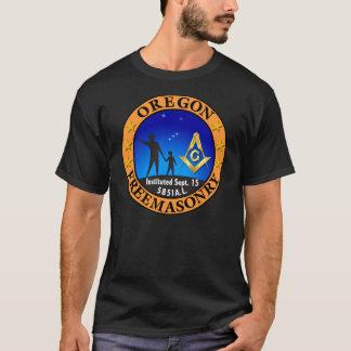 オレゴンの石工黒のTシャツ Tシャツ