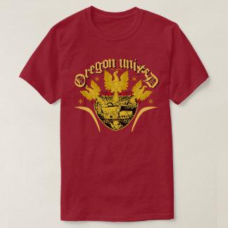 オレゴンの統一されたな三重のワシ Tシャツ