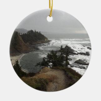 オレゴンの美しい海岸 セラミックオーナメント