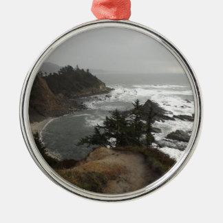 オレゴンの美しい海岸 メタルオーナメント