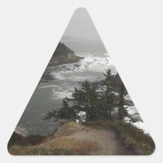 オレゴンの美しい海岸 三角形シール
