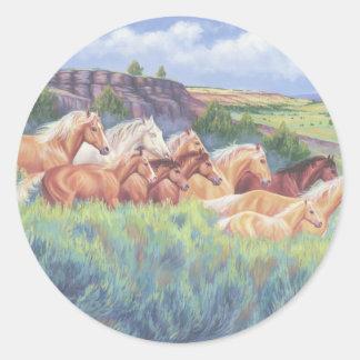 オレゴンの野生の馬 ラウンドシール