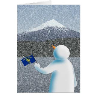 オレゴンの雪だるま カード