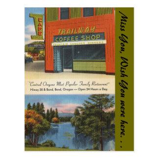 オレゴンのTrailwayの喫茶店、くねり ポストカード