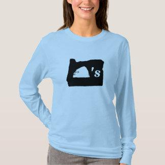 オレゴンは三角波を揺すります Tシャツ
