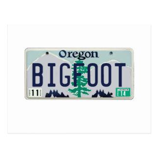 オレゴンビッグフットのナンバープレート ポストカード