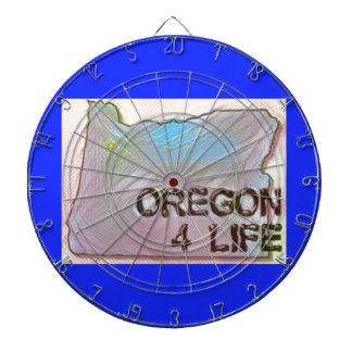 """""""オレゴン4生命""""の州の地図のプライドのデザイン ダーツボード"""