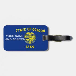 オレゴン、米国の旗が付いている荷物のラベル ラゲッジタグ