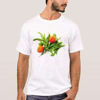 オレンジおよびインゲンのTシャツ Tシャツ