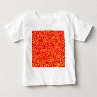 オレンジおよびピンクの抽象的なアートワーク ベビーTシャツ