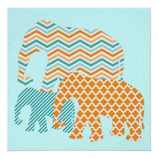 オレンジおよび水象ポスター ポスター