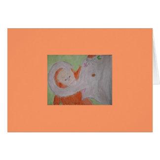 オレンジおよび灰色 カード