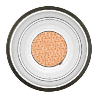 オレンジおよび白いダイヤモンドのデザイン ペット用食器