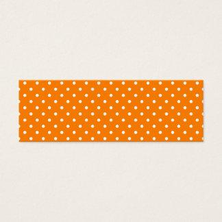 オレンジおよび白い水玉模様 スキニー名刺