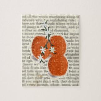 オレンジおよび詩歌のジグソーパズルが付いている静物画 ジグソーパズル