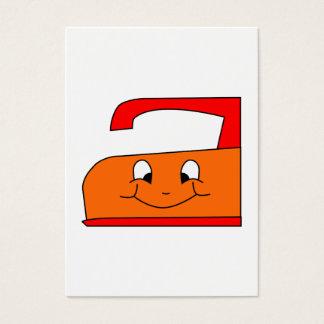 オレンジおよび赤い鉄の漫画。 白 名刺