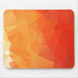 オレンジおよび赤い面パターン マウスパッド