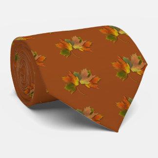 オレンジおよび金紅葉 ネクタイ