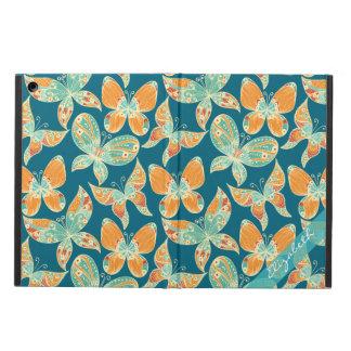 オレンジおよび青の蝶
