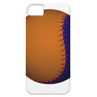 オレンジおよび青の野球 iPhone SE/5/5s ケース