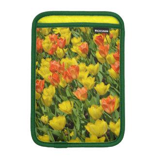 オレンジおよび黄色のチューリップのipadの小型袖 iPad miniスリーブ