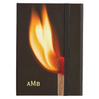 オレンジおよび黄色の火の炎 iPad AIRケース