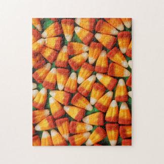 オレンジおよび黄色キャンデートウモロコシのパズル ジグソーパズル