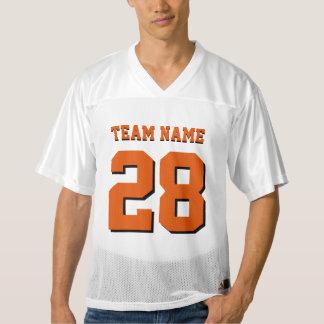 オレンジおよび黒いフットボールのスポーツのチームジャージー