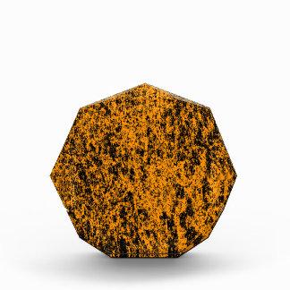 オレンジおよび黒い大理石の背景賞 表彰盾