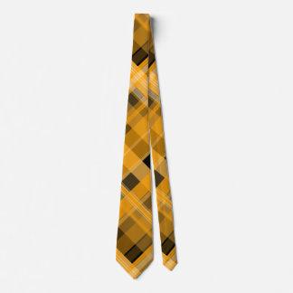 オレンジおよび黒い格子縞のタイ オリジナルタイ