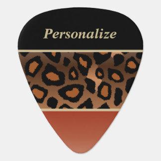 オレンジおよび黒い燃やされてジャガーは|個人化なります ギターピック