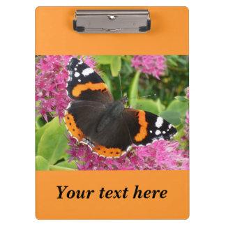 オレンジおよび黒い蝶写真 クリップボード