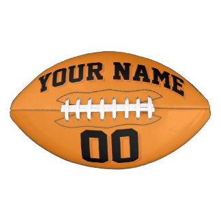 オレンジおよび黒くカスタムなフットボール アメリカンフットボール