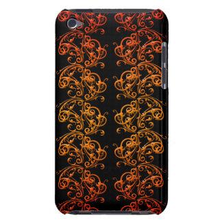 オレンジおよび黒は箱およびカバー電話渦巻きます Case-Mate iPod TOUCH ケース