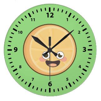 オレンジかわいい ラージ壁時計