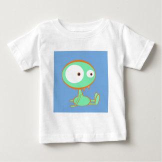 オレンジか緑モンスター ベビーTシャツ