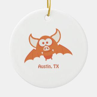 オレンジこうもり-オースティン、TX セラミックオーナメント