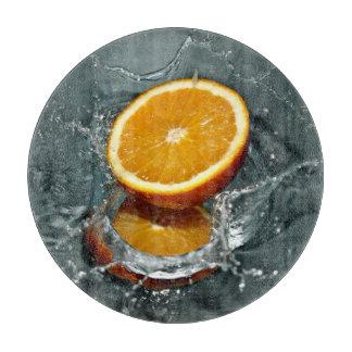 オレンジしぶきのまな板 カッティングボード